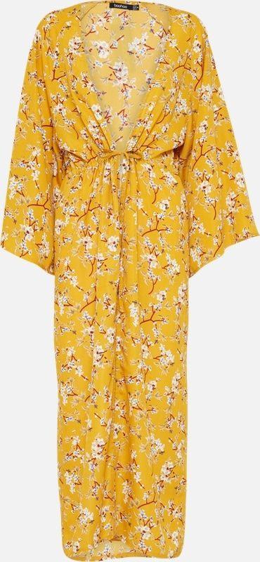 Boohoo Kleid 'Floral' In Gelb Bei About You Bestellen