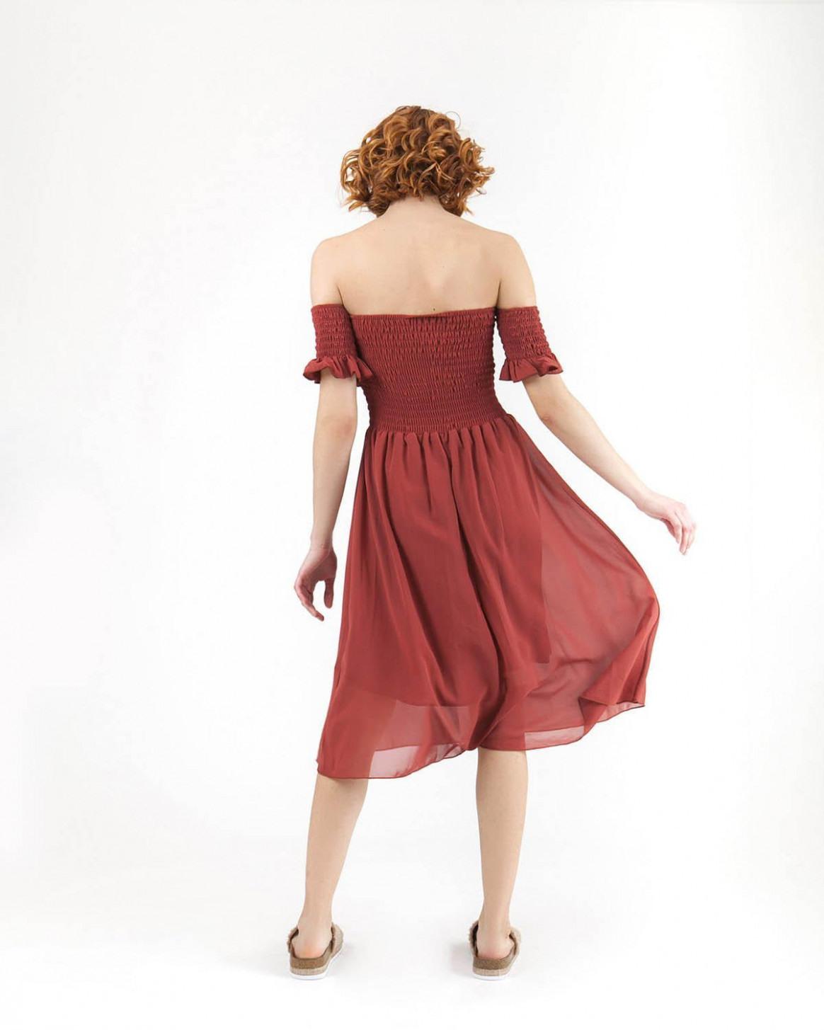 Bordeaux Kleid  Abendkleider