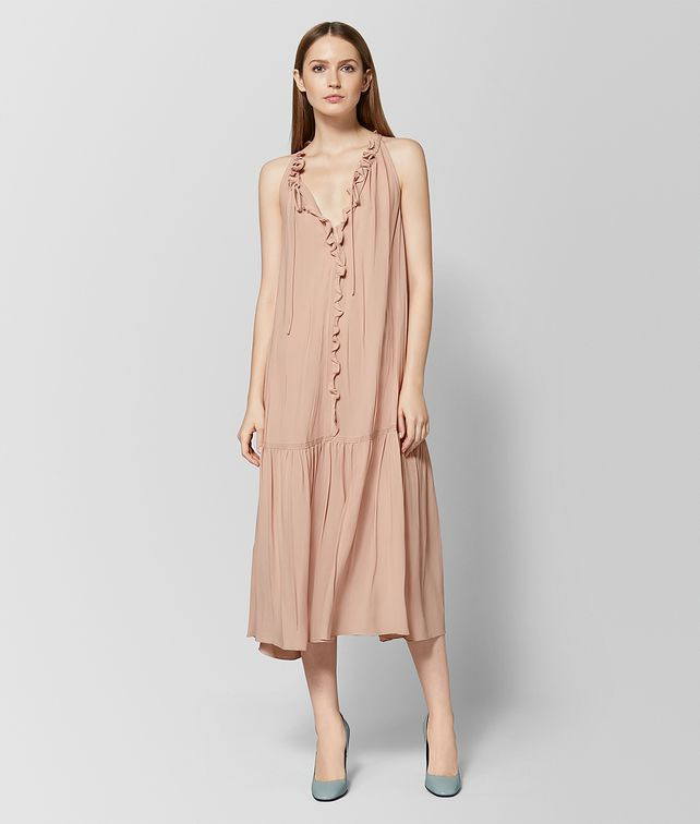 Bottega Veneta Kleid Aus Seide In Peach Rose Kleid Damen