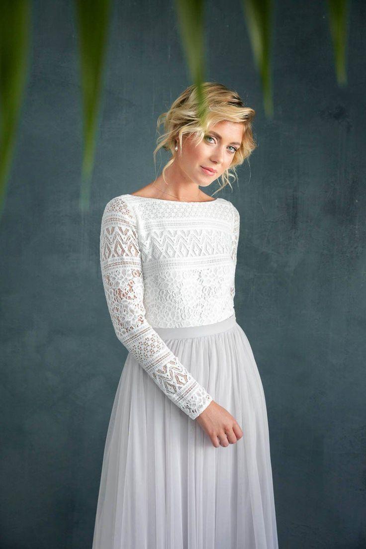 Braut Body Mit Spitze Im Boholook Rückenfrei  Violet