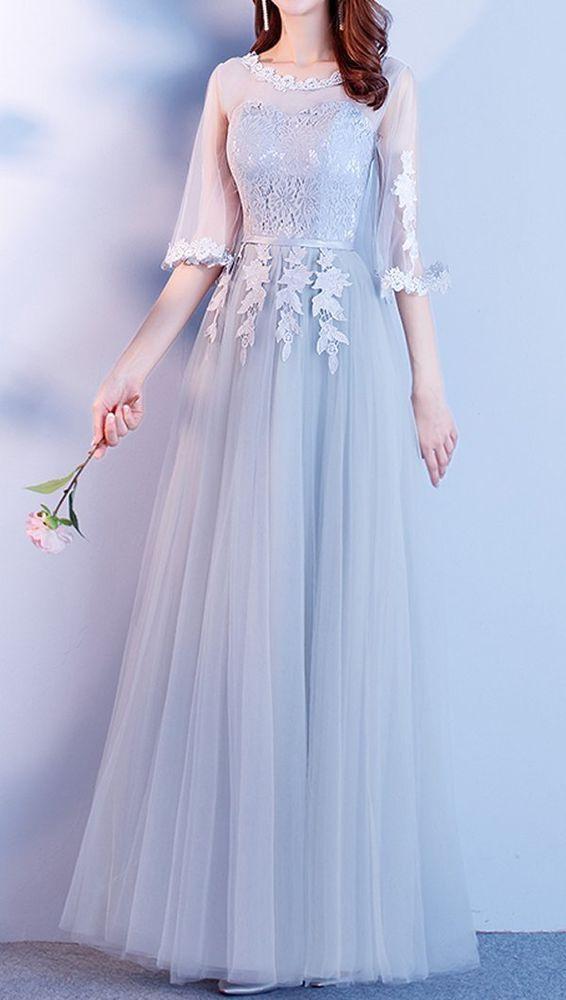 Braut Hochzeit Spitzenkleid Brautjungfer Kleid Prom Party
