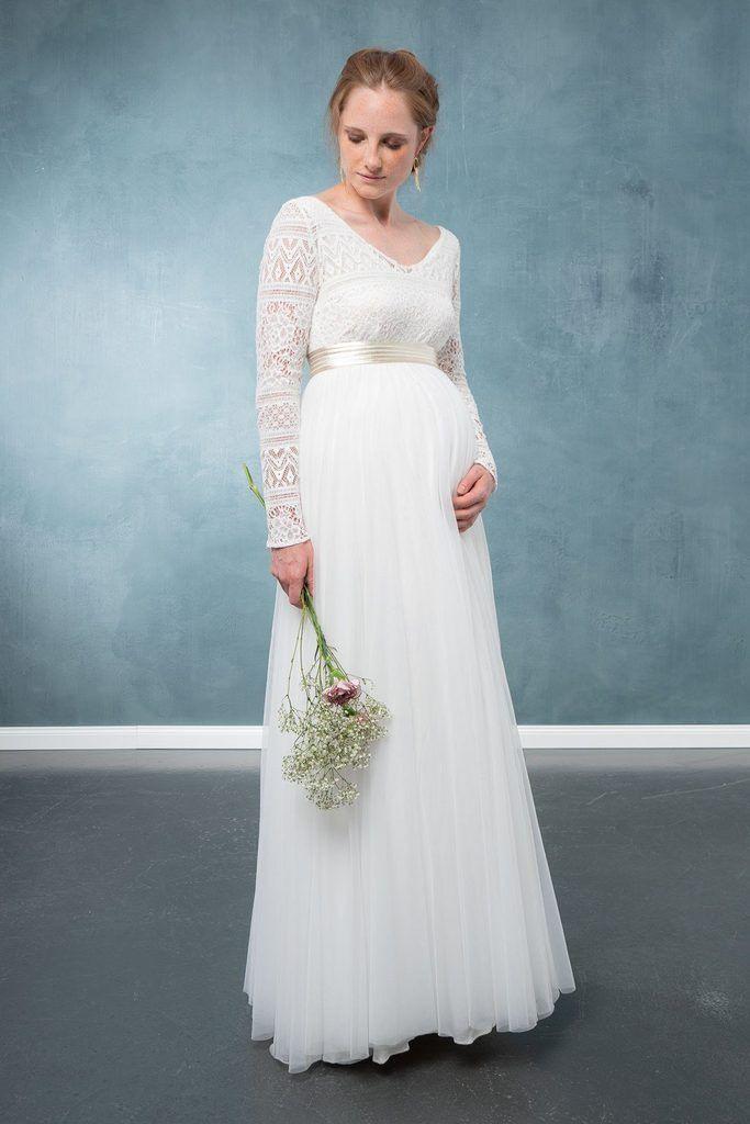 Braut Rock Für Schwangere Aus Fließendem Tüll Mit