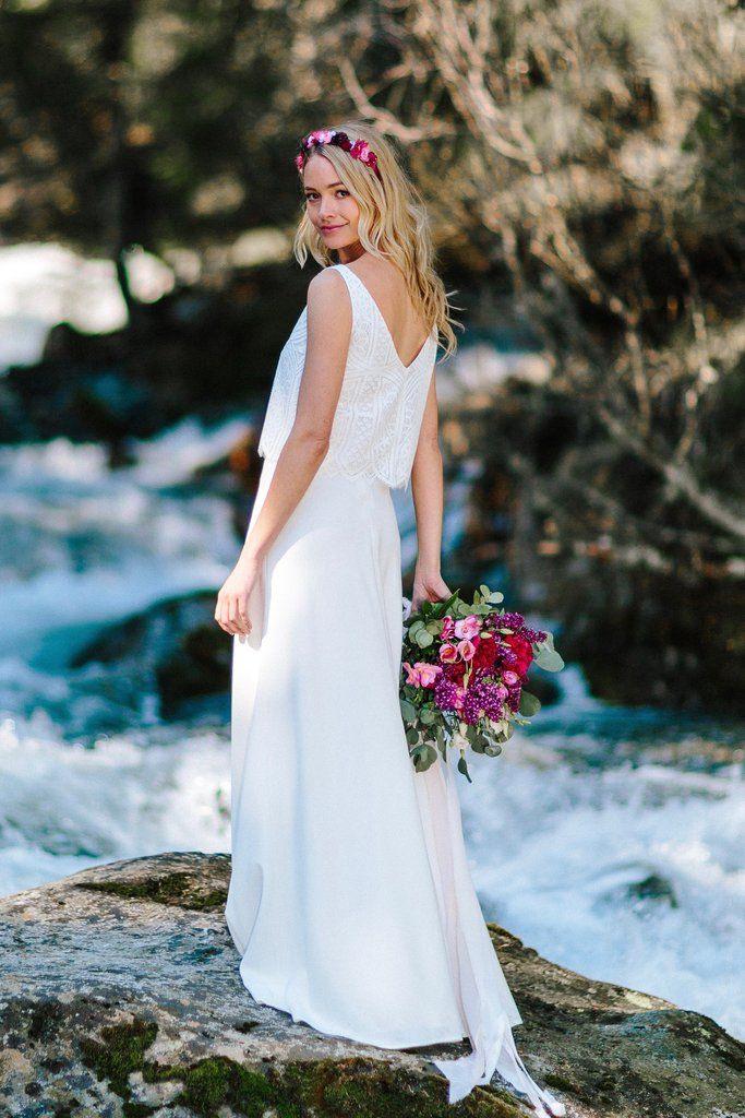 Braut Rock Lang Und Schlicht In Weiss  Ivory  Kleid
