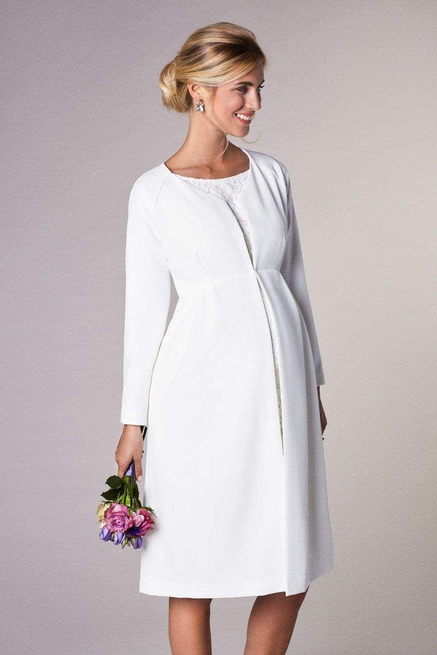 Braut Umstandsmantel  Kleidung Brautkleid Schwanger
