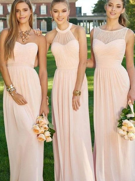 Brautjungfernkleider Altrosa  Brautjungfern Kleider
