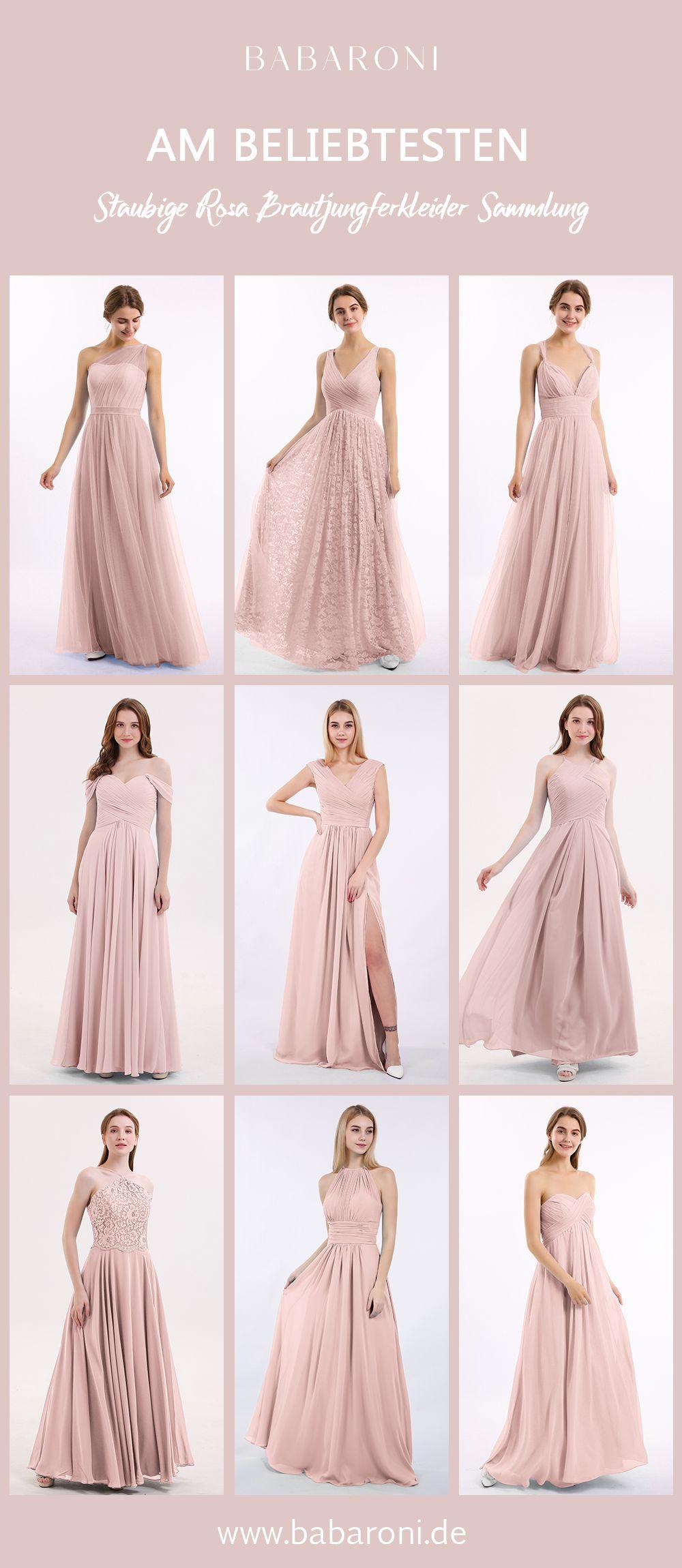 Brautjungfernkleider In 2020  Kleid Altrosa