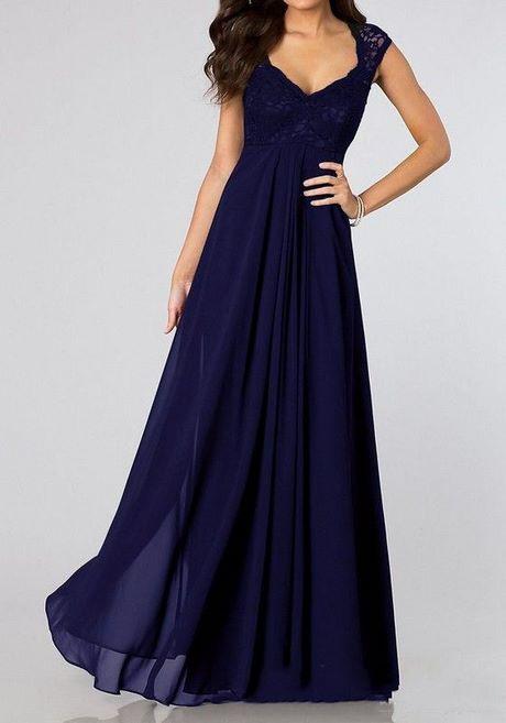 Brautjungfernkleider Lang Blau