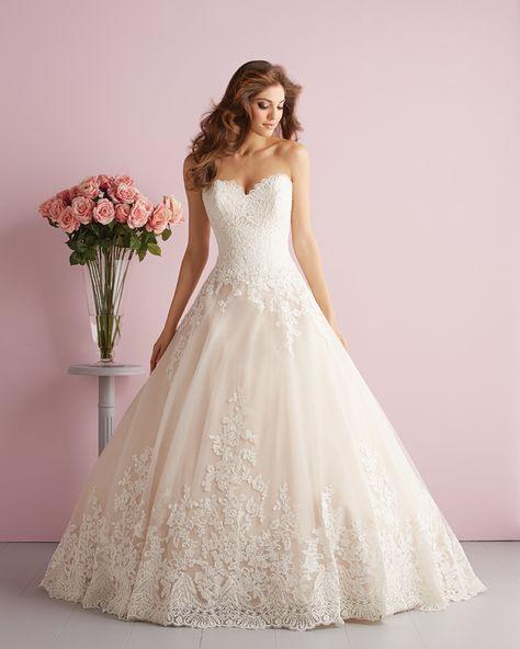 Brautkleid Allure Bridals Spitze Prinzessin  Ballkleid
