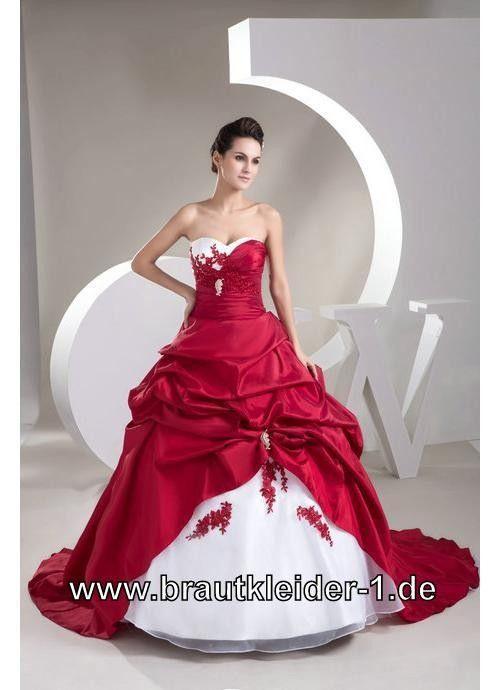 Brautkleid Attala In Rot Mit Applikationen  Brautkleid