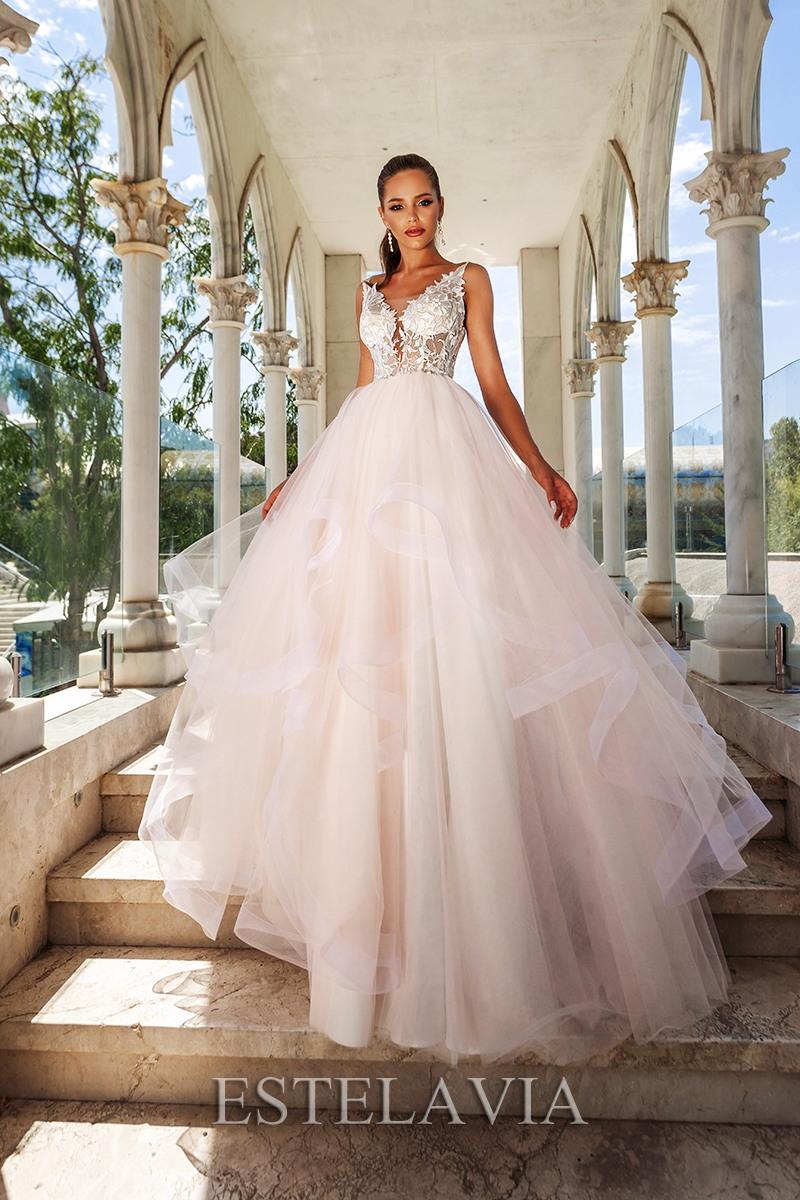 Brautkleid Hochzeitskleid Alinie 42 Blush  Nazzals
