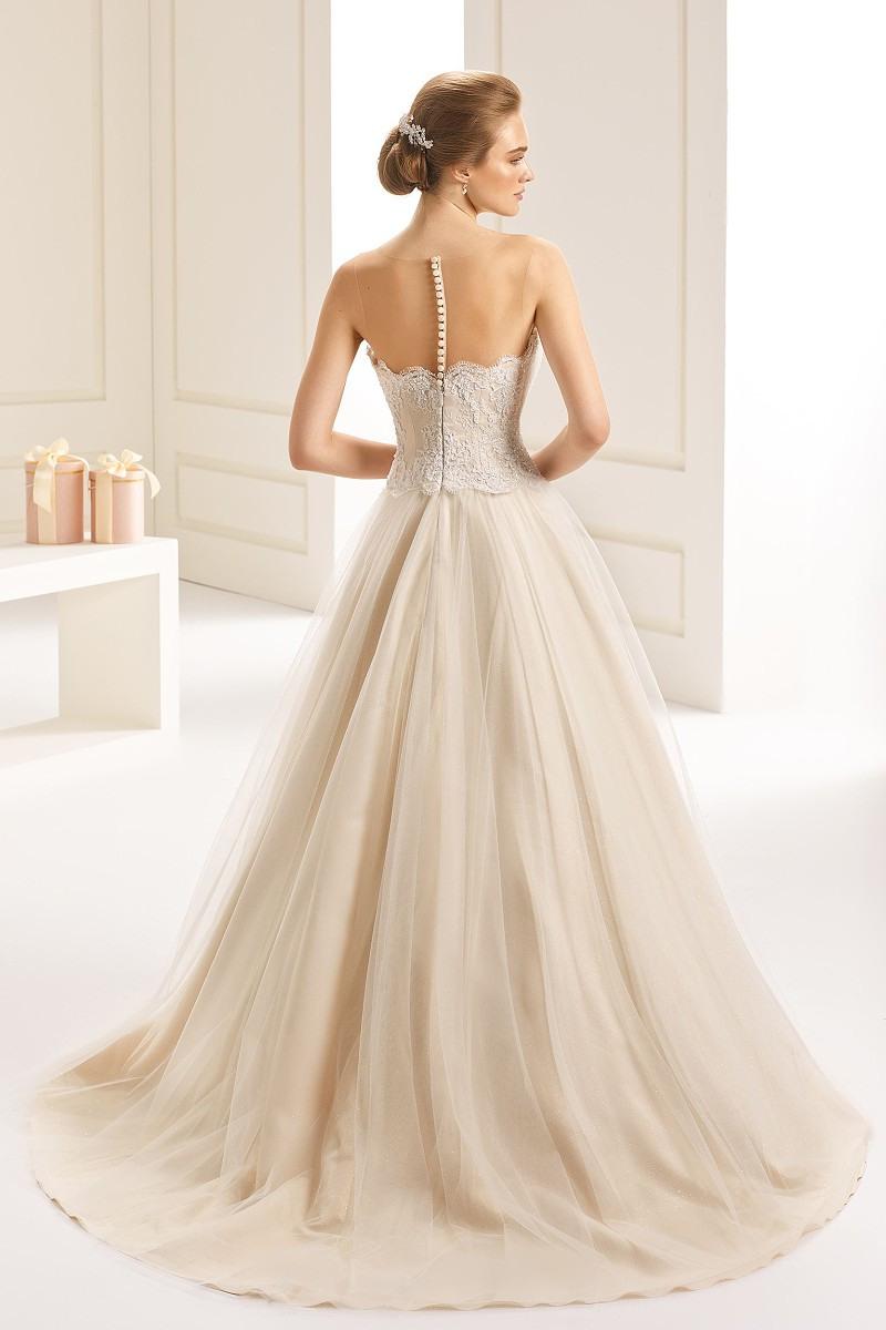 Brautkleid Hochzeitskleid Isabelle Duchesse Champagner