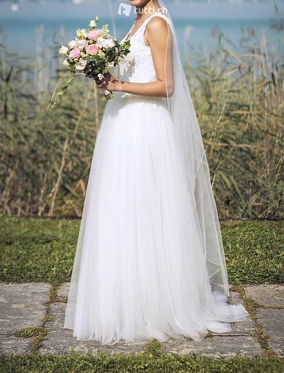 """Brautkleid / Hochzeitskleid Pronovias """"Dalgo"""" Gr 36 In"""
