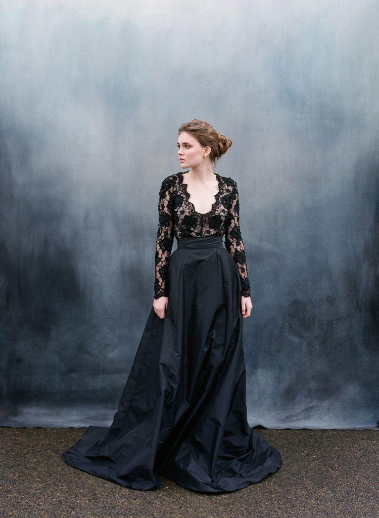 Brautkleid In Schwarz  20 Stylingtipps Für Extravagante