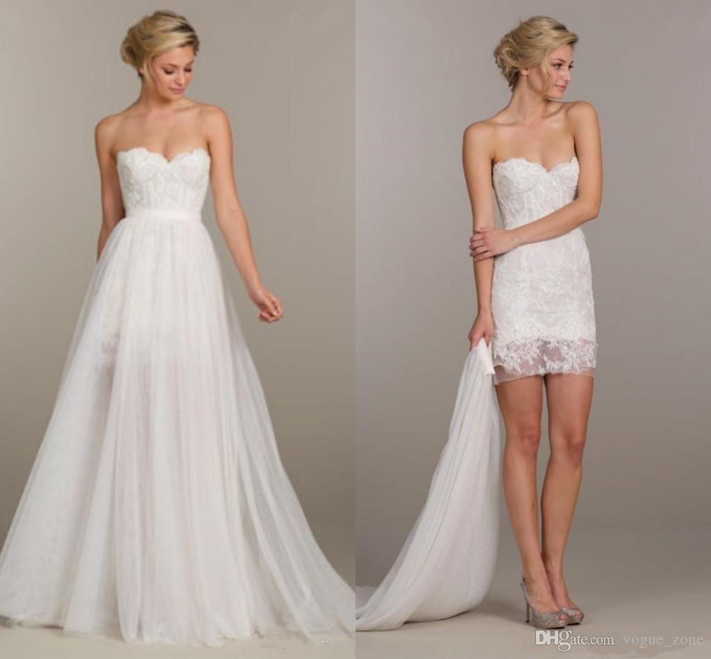 Brautkleid Kurz Und Lang 2 In 1  Hochzeitskleid Braut