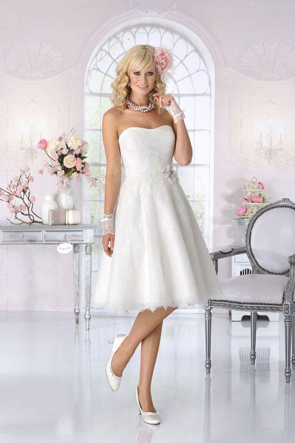 Brautkleid Kurz  Vintage Rückenfrei Standesamt