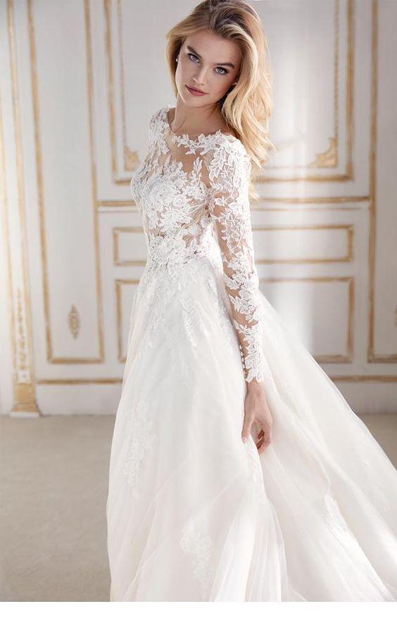 Brautkleid Mit Langen Ärmeln  Inspirierende Damen