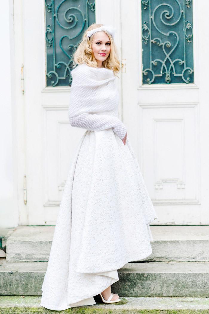 Brautkleid Mit Strickbolero