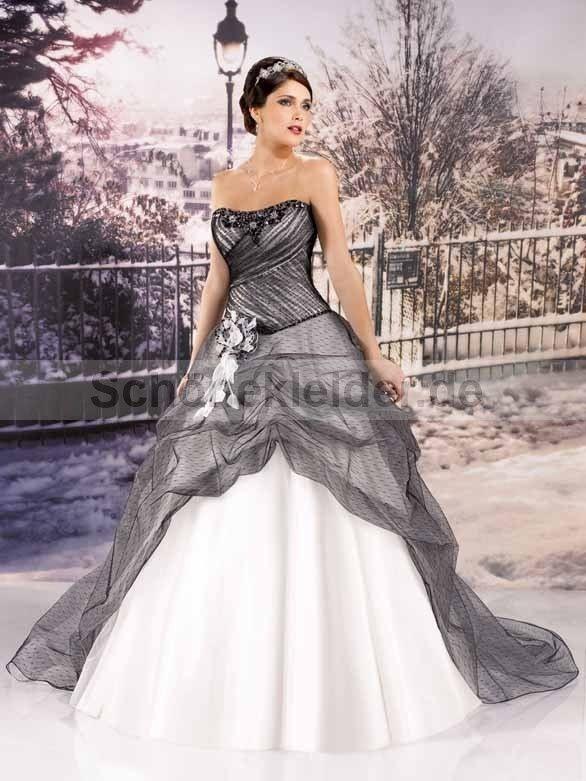 Brautkleid Schwarz Weiß Günstig Mit Bildern