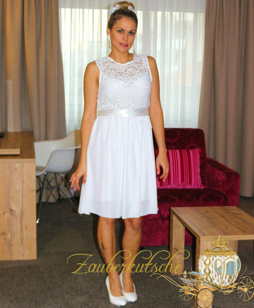Brautkleid Spitze Kurz Hochzeitskleid M L Xl Xxl Braut