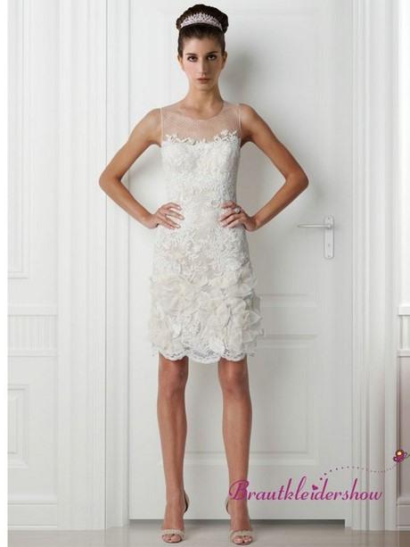 Brautkleid Standesamt Kurz Creme