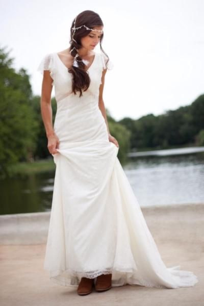 Brautkleid Wedding Dress Boho Hippie Vintage Lace