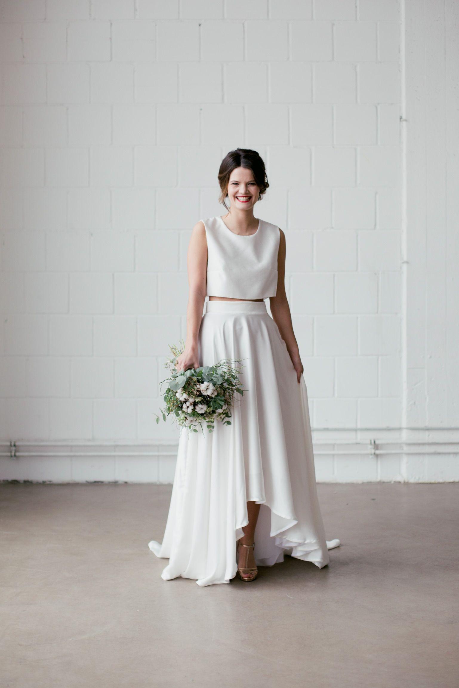 Brautkleid Zweiteiler Hazel In 2020  Alternative  Abendkleid