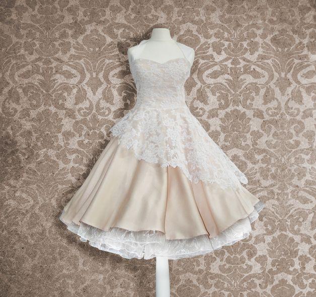 Brautkleid50Er Jahre Knielang Hochzeitskleid