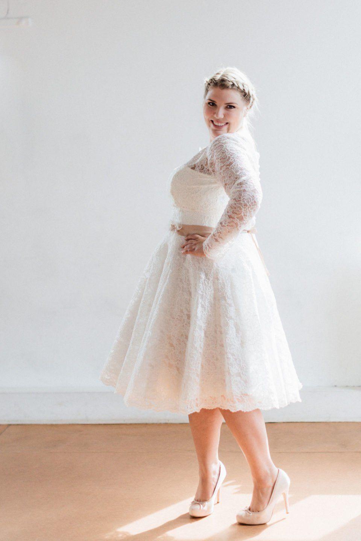 Brautkleider Große Größen  Vintage Hochzeit Kleider