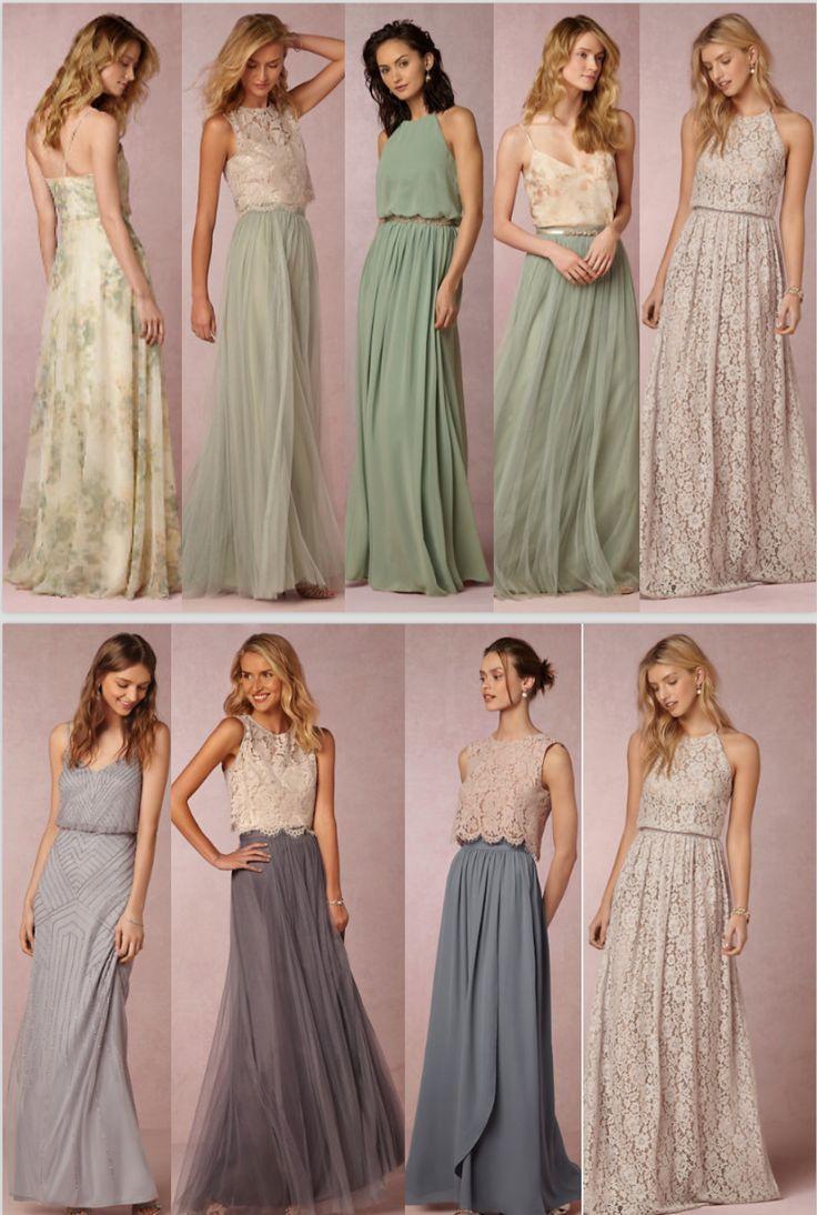 Brautkleider In Pastell Tönen Brautkleider Farbig Für Die