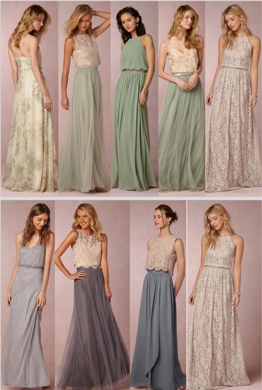 Brautkleider In Pastell Tönen  Trauzeugin Kleid Kleid