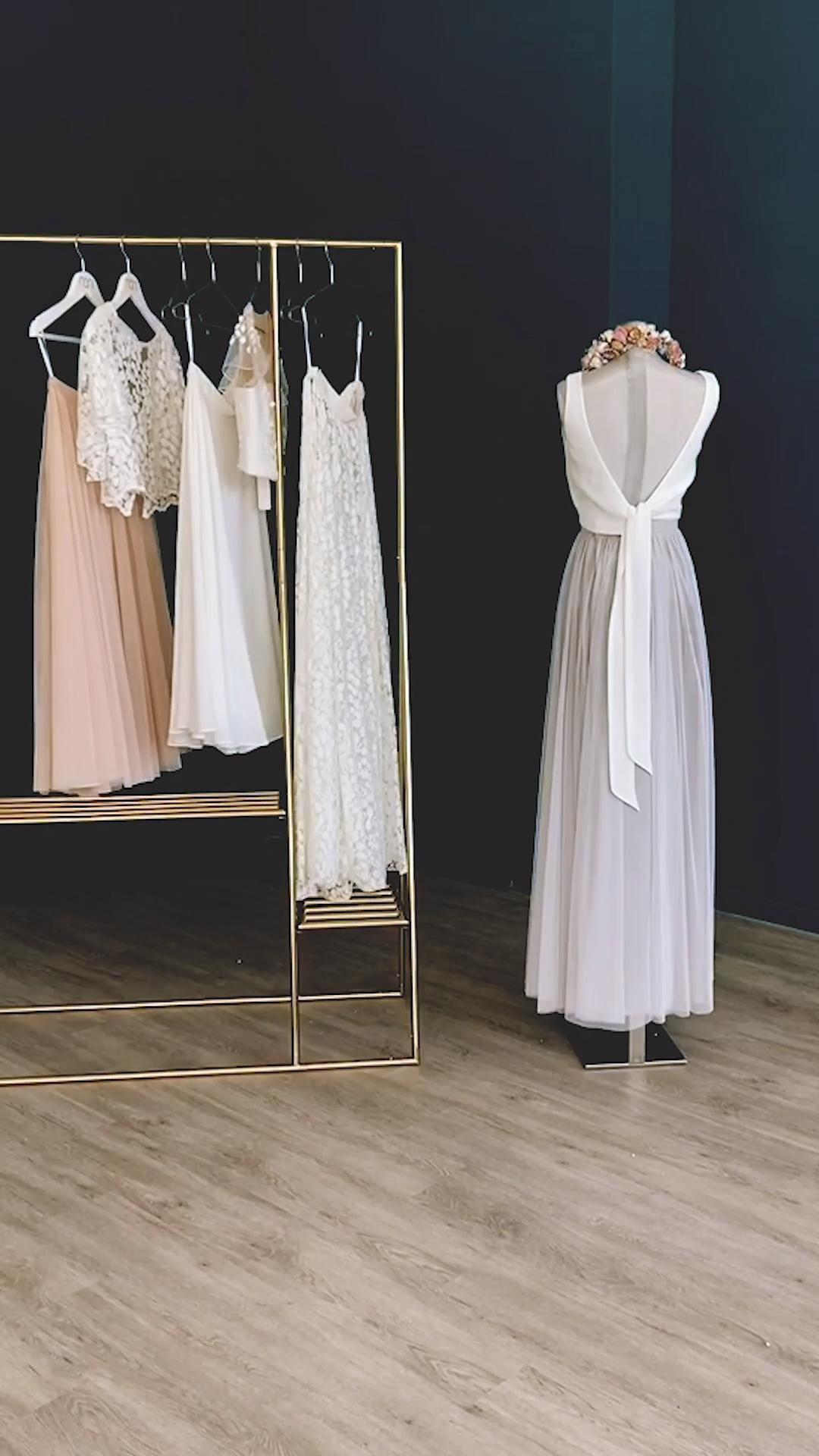 Brautkleider Zweiteilig Aus Braut Top Mit Spitze