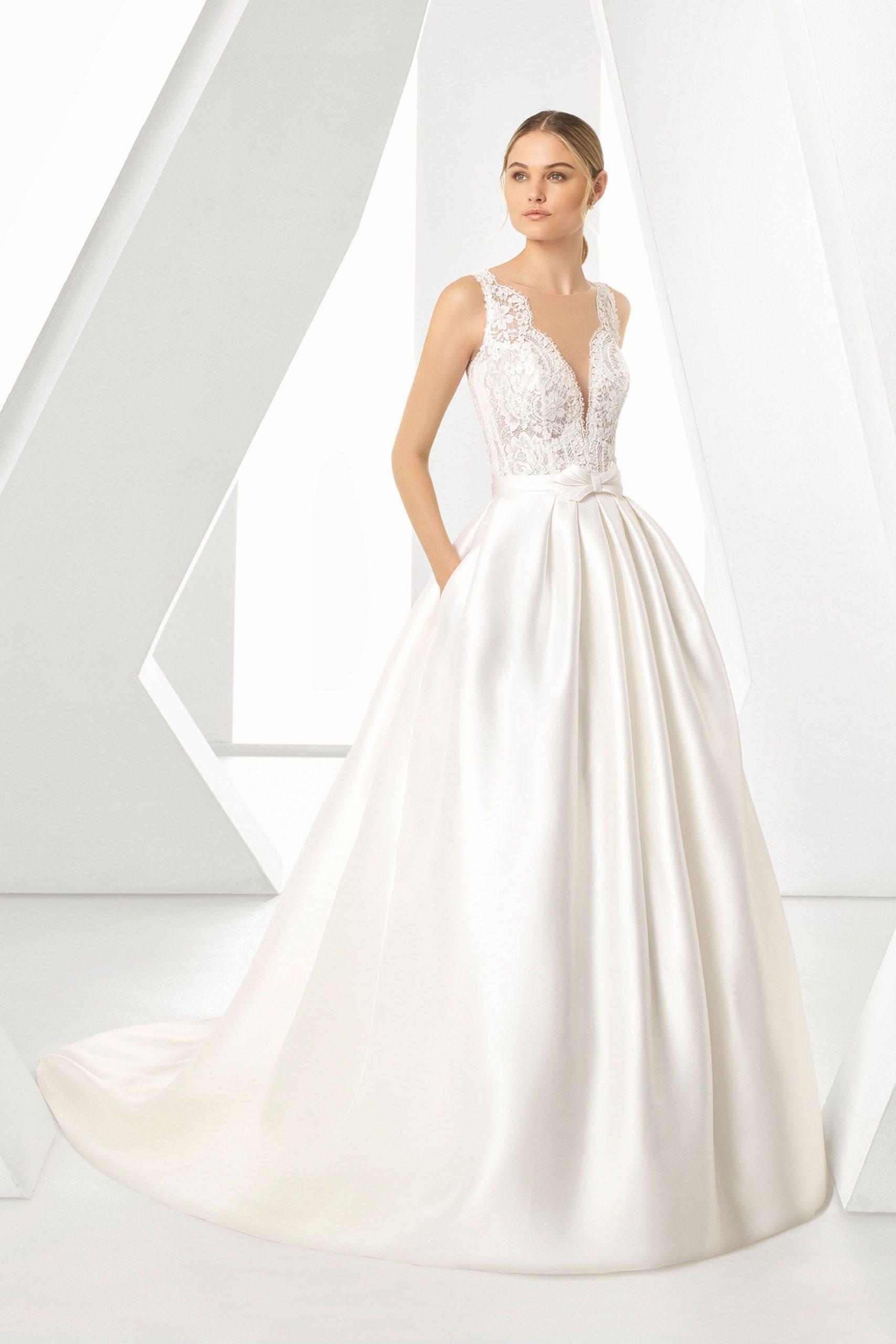 Brautmode Rosa Clara  Kleid Hochzeit Brautmode