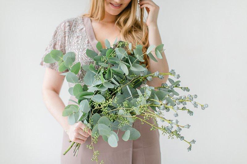 Brautstrauss Mit Eukalyptus