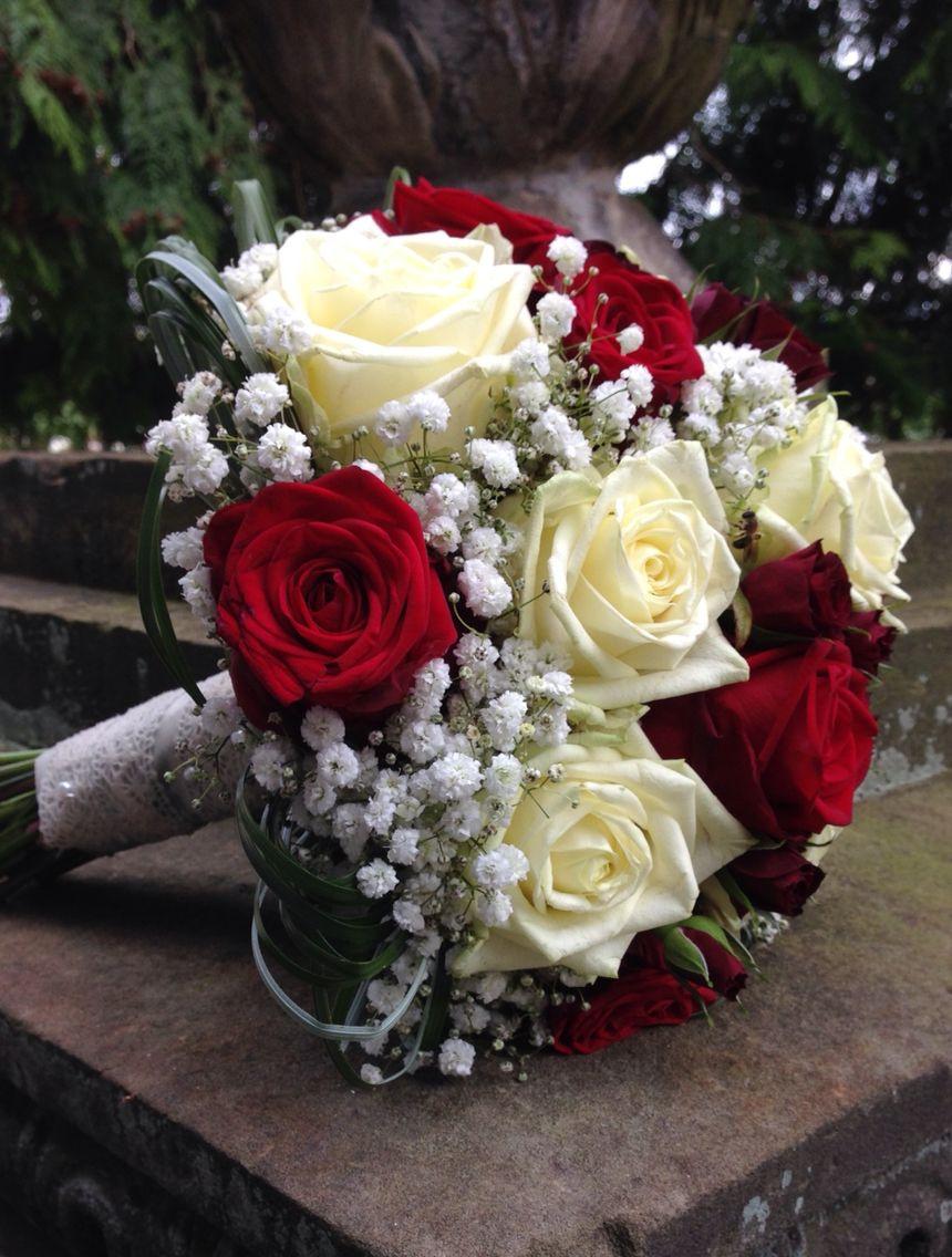 Brautstrauss Rot  Weiß  Brautstrauß Rot Brautsträuße