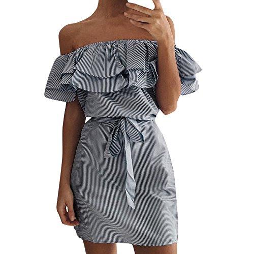 Btruely Kleid Damen Elegant Mädchen Trägerlos Partykleid