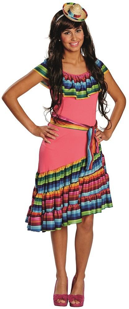 Buntes Mexiko Kleid Sheila  Partyde