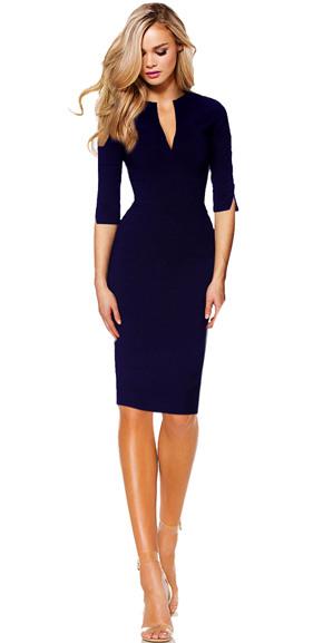 Business Kleid Etuikleid Angelina  Navy  Drezz2Imprezz