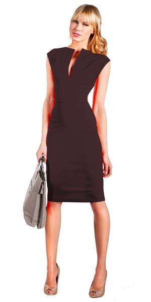Business Kleid Etuikleid Keira  Braun  Drezz2Imprezz