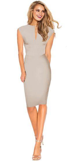 Business Kleid Etuikleid Knielang Stone  Keira