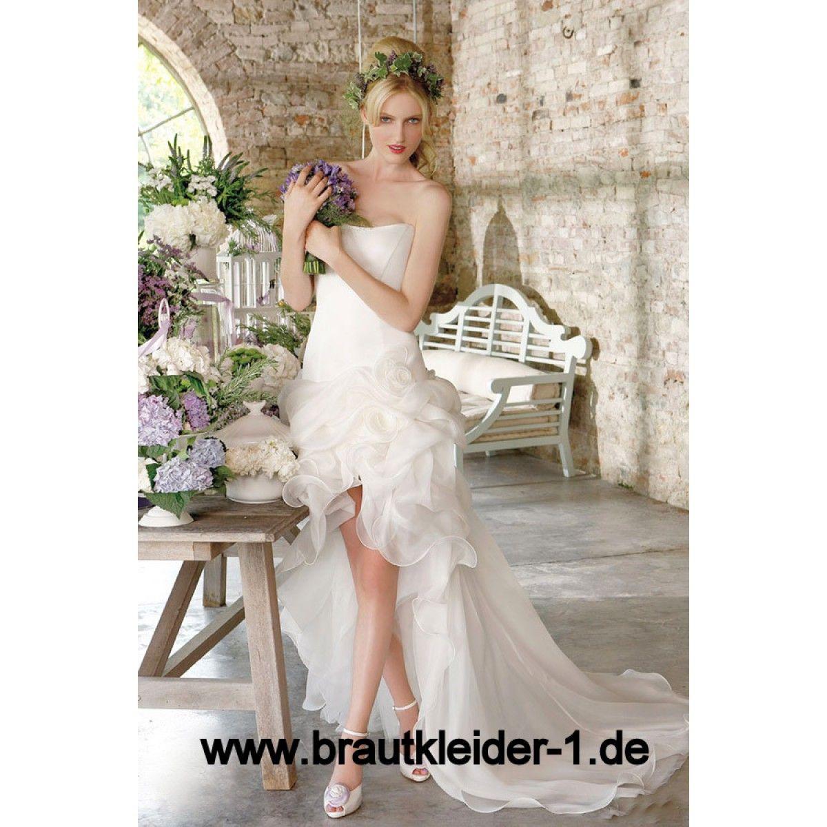 Bustie Brautkleid Agascha Vorne Kurz Hinten Lang