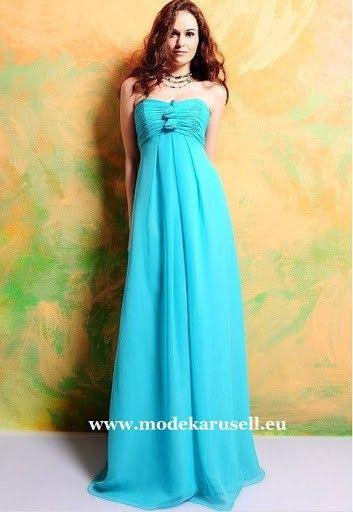 Bustier Empire Abendkleid In Hellblau  Süßes