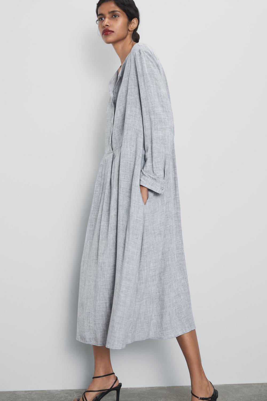 Buttoned Dress  View Alldresseswoman  Zara Iceland