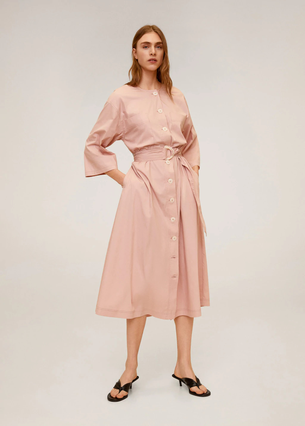 Buttons Cotton Dress  Woman  Mango Singapore In 2020