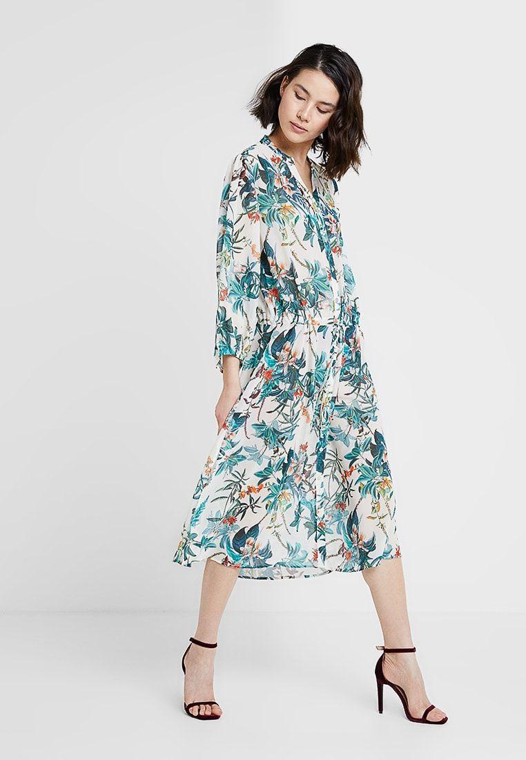 Byfloreance Flower Dress  Freizeitkleid  Off White Combi