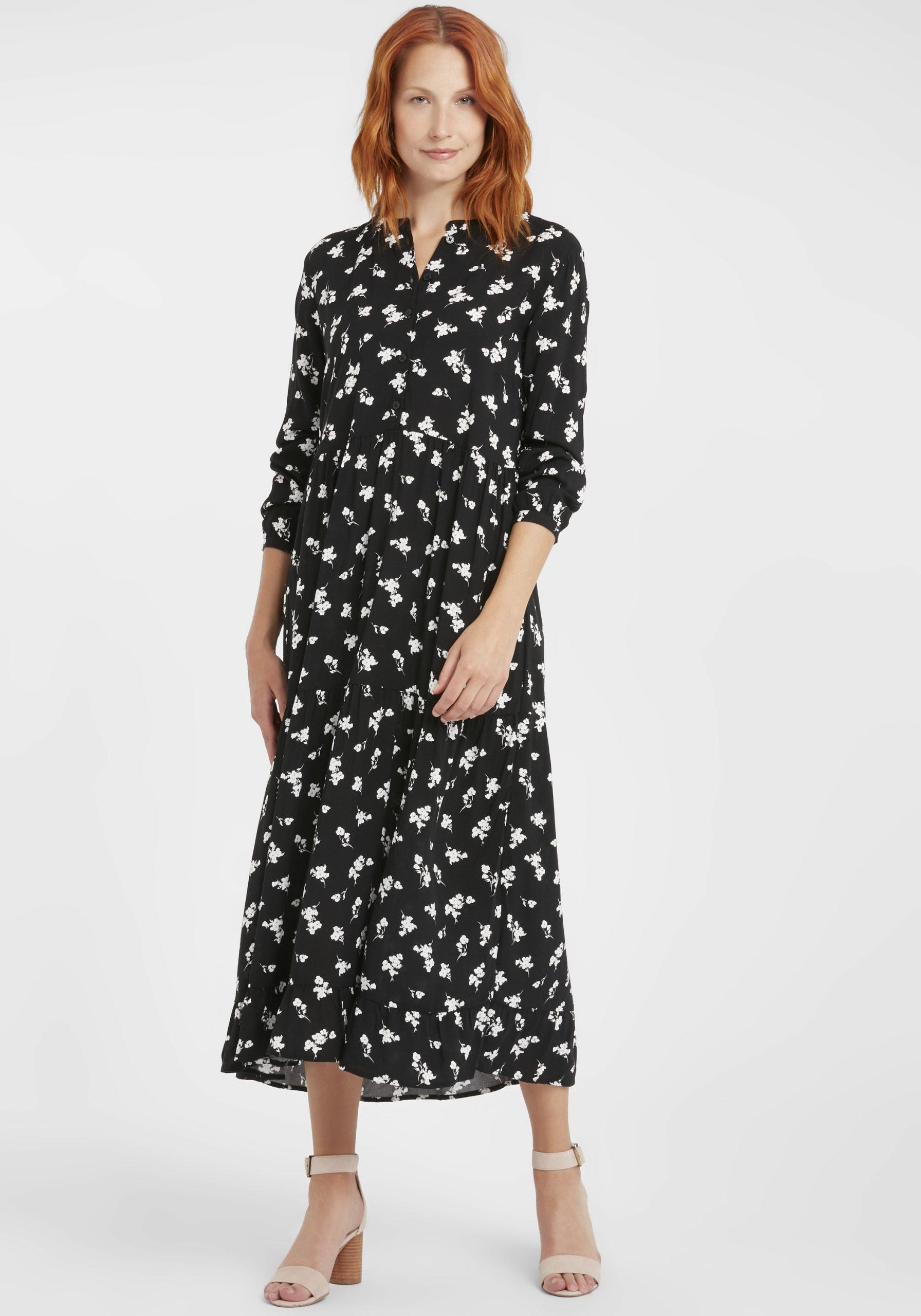Byoung Damen Kleid Blusenkleid Sommerkleid 20807855 Mit