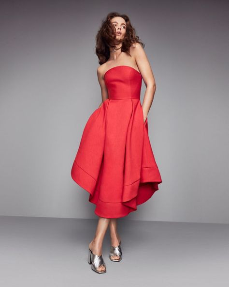 C/Meo Collective Strapless Making Waves Dress  100