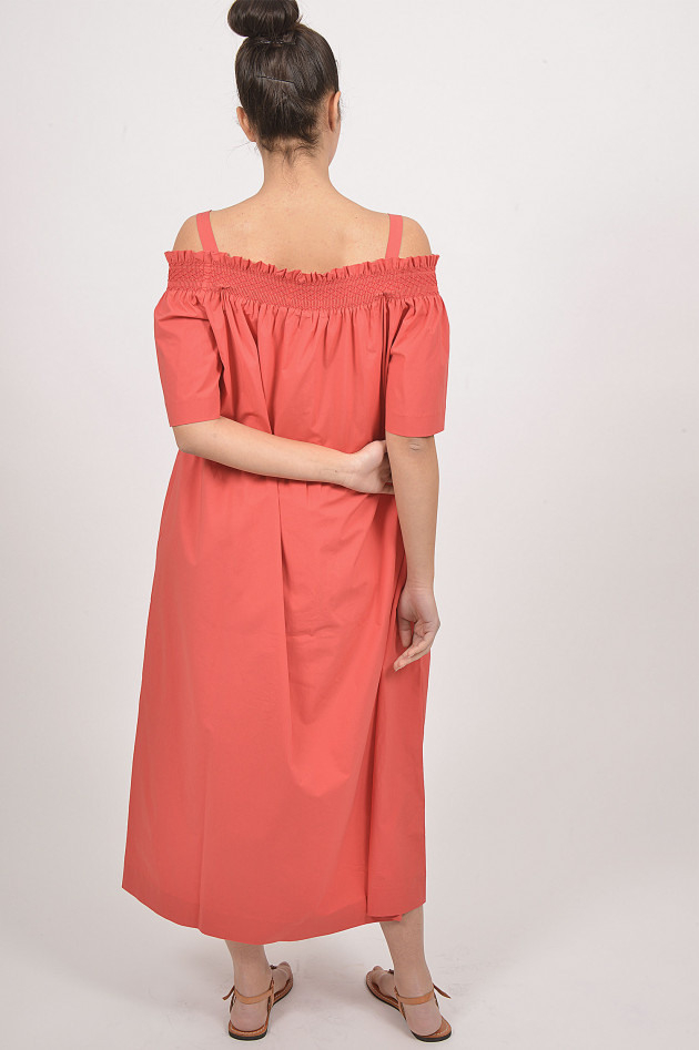 Caliban Kleid Mit Carmen  Ausschnitt In Rot  Gruenerat