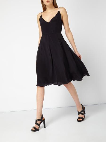 Calvin Klein Jeans Kleid Aus Reinem Chiffon In Grau