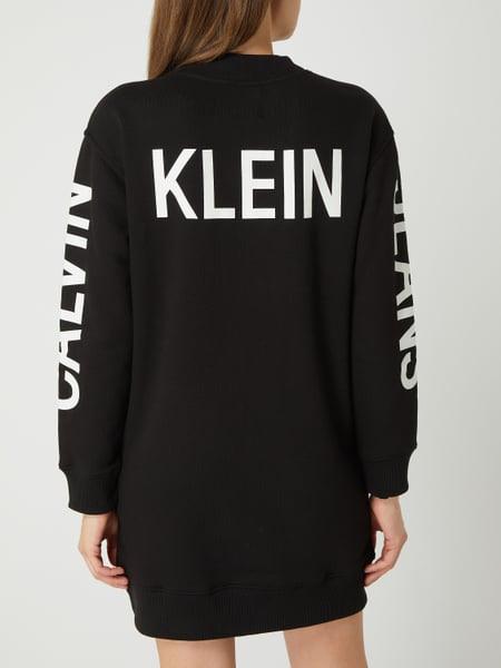 Calvin Klein Jeans Sweatkleid Mit Logodetails In Grau