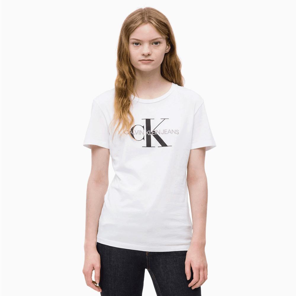 Calvin Klein Monogram Ladies' Logo Tshirt  White